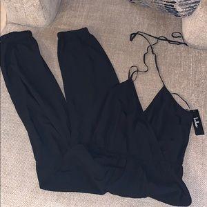Black fly jumpsuit